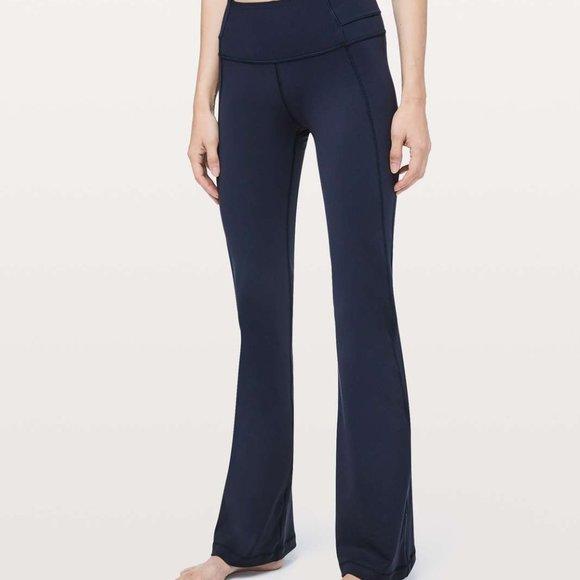 SOLD❗️Lululemon Navy Groove Pants Flare Leg 10